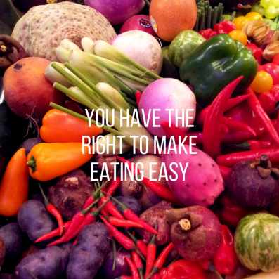 you have the right to make eating